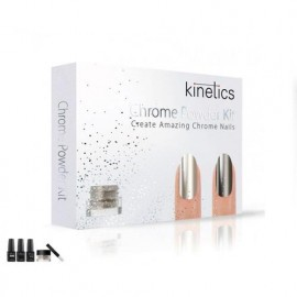 KIT UÑAS EFECTO ESPEJO CHROME POWDER KINETICS