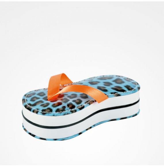 Kit Manicura 5 Piezas Chancla Leopardo Flip Flop