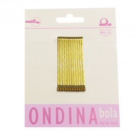 CLIPS BOLA BRONCE 50mm CARTON 12unid 4B